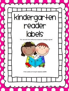 Kindergarten Reader Labels - Compatible with California Treasures