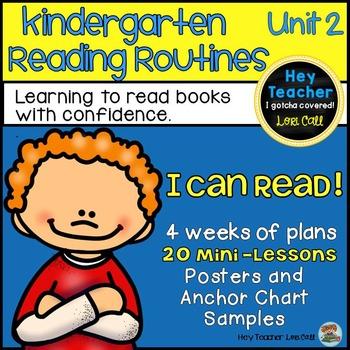 Kindergarten Reader's Workshop Unit 2 20 Mini Lessons {Story Elements}