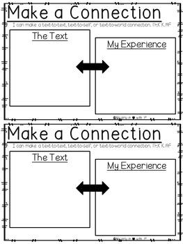 Kindergarten Reader's Response Booklet Figure 19 (TEKS Aligned)