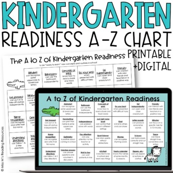 Kindergarten Readiness A to Z