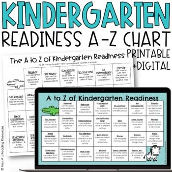 Kindergarten Readiness A to Z