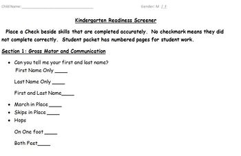 picture about Kindergarten Readiness Test Free Printable named Kindergarten Readiness Examination Worksheets TpT