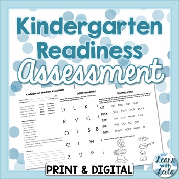 image about Printable Kindergarten Readiness Test titled Kindergarten Readiness Investigation Worksheets TpT