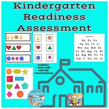 Kindergarden Readiness Assessment & Worksheets | TpT