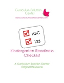 Kindergarten Readiness Checklist EDITABLE! {Checklist Soci