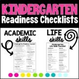 Kindergarten Readiness Checklists | Academic AND Life Skills