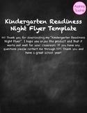 Kindergarten Readiness Flyer | EDITABLE