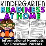 Parent Handouts for Preschool on Kindergarten Readiness