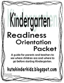 Kindergarten Readiness Packet
