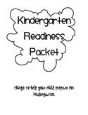 Kindergarten Readiness Packet: reading, writing and math skills
