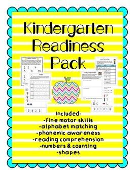 Kindergarten Readiness Practice Pack