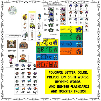 Kindergarten Readiness Screener & Treatment Packet: Monster Trucks!