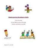 Kindergarten Readiness Skills Resource