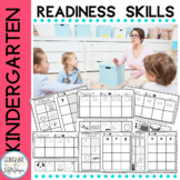 Kindergarten Readiness Activities Trace, Color, Cut & Glue