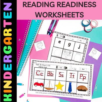 Kindergarten Readiness Activities Trace, Color, Cut & Glue No Prep