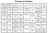 Kindergarten Readiness Skills - editable