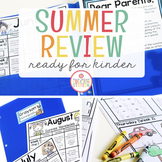 KINDERGARTEN READINESS SUMMER PACKET FOR DISTANCE LEARNING - EDITABLE