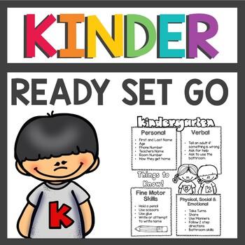 Kindergarten Readiness Summer Homework