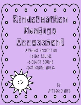 Kindergarten Reading Assessment