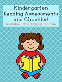 Kindergarten Reading Assessments and Checklist