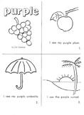 """Kindergarten Reading Book #6  """"Purple"""""""
