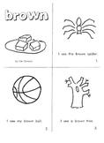 """Kindergarten Reading Book #7    """"Brown"""""""