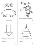 """Kindergarten Reading Book #9  """"Pink"""""""