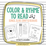 Kindergarten Reading: Color and Rhyme to Read