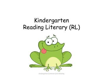 Kindergarten  Reading Common Core Standards for Posting --Frog Theme