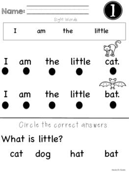 Kindergarten Reading Comprehension Activities