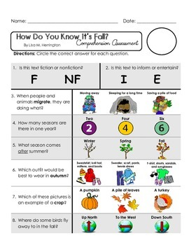 Reading Comprehension Quiz [High Level Questions] (NONFiction) HOW KNOW IT FALL