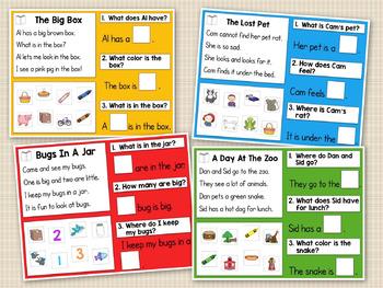 Kindergarten Reading Comprehension: Interactive Whiteboard/Powerpoint Activities