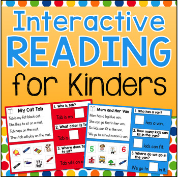 kindergarten reading comprehension interactive whiteboard