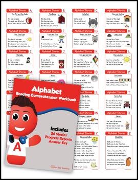 Kindergarten Reading Comprehension NO-PREP ALL-IN-ONE MEGA BUNDLE (200+ STORIES)