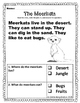 Kindergarten Reading Comprehension {Nonfiction} Animal Edition