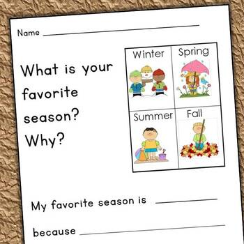 Seasons - Very First Close Reading Passages and Writing Prompts