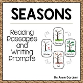 Four Seasons Close Reading Passages and Writing Prompts: Guided Reading Level D
