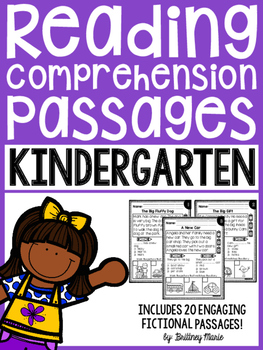Reading Comprehension Passages - Kindergarten