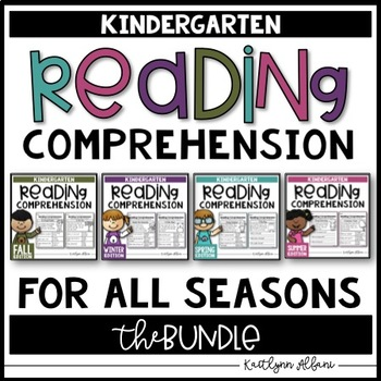 Kindergarten Reading Comprehension Passages - BUNDLE [SEASONS]