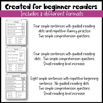 FALL Reading Comprehension Passages - For Little Readers
