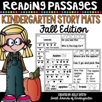 Kindergarten Reading Comprehension Passages {Fall}