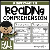 Kindergarten Reading Comprehension Passages - Fall Edition