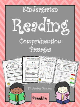 Kindergarten Reading Comprehension Passages-Freebie