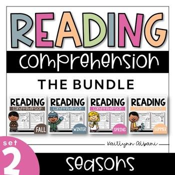 Kindergarten Reading Comprehension Passages - GROWING BUNDLE - Seasons Set 2