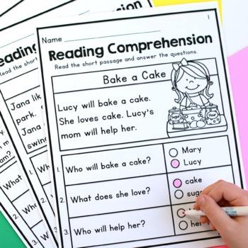 Kindergarten Reading Comprehension Passages - Set 1