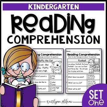 Kindergarten Reading Comprehension Passages - Set 1 - Distance Learning