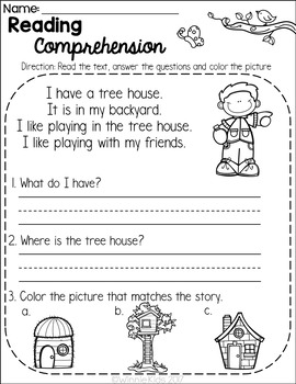 Kindergarten Reading Comprehension Passages - Spring