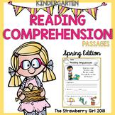 Kindergarten Reading Comprehension Passages - Spring