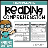 Kindergarten Reading Comprehension Passages - Spring Edition