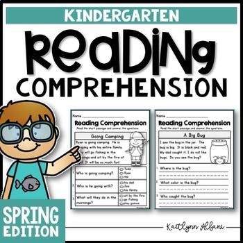 Kindergarten Reading Comprehension Passages - Spring Edition